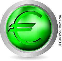 Euro icon, button.