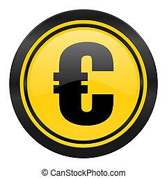 euro icon, yellow logo