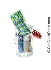 Euro in the jar