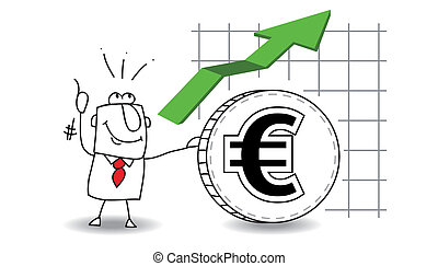 Euro is growing up - fluctuation of the euro growing up