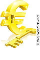 Euro key lock concept