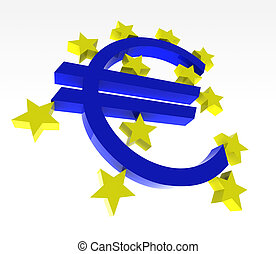 euro logo bce - euro symbol with yellow stars