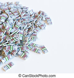 Euro money (500) banknotes pile. Business motivation. 3d render