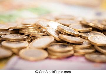 Euro Money - Abstract closeup of euro money.