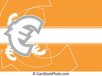 Euro money icon background design