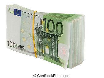 Euro money. Isolated.