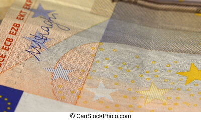 Euro Money on the table - Euro money revolve on the table....