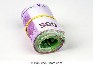Euro money roll