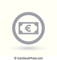 Euro money symbol - European paper currency icon - Euro...