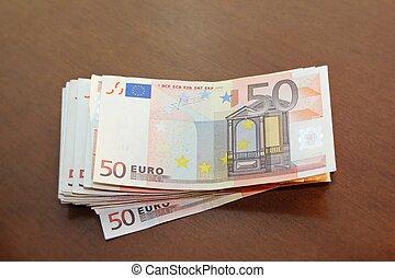 Euro money - Wad of euro