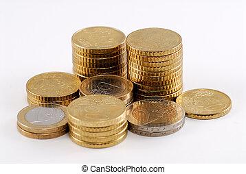 euro, mynter