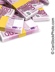 Euro Notes Scattered Pile