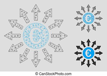 Euro Payments Vector Mesh Wire Frame Model and Triangle ...
