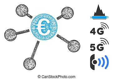 Euro Payments Web Vector Mesh Illustration - Mesh Euro ...