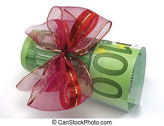 euro, pengar, gåva