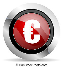 euro red glossy web icon