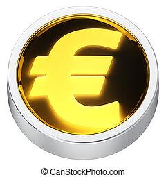 Euro round icon