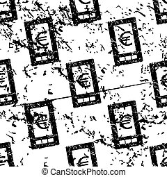 Euro screen pattern, grunge, monochrome