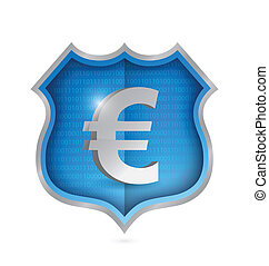 euro security shield illustration design