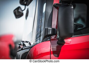 Euro Semi Truck Closeup