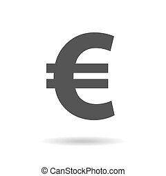 Euro sign icon in flat style. Money vector illustration on white isolated background. Business concept. EPS 10