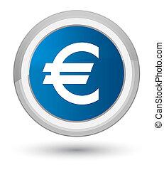 Euro sign icon prime blue round button
