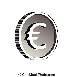 Euro sign icon, simple style