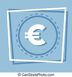 Euro Sign Icon Web Button