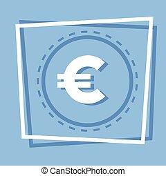 Euro Sign Icon Web Button