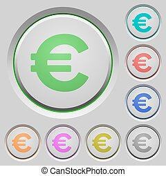 Euro sign push buttons