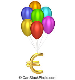 Euro Sign With Balloons