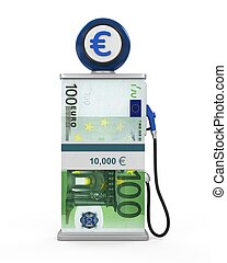 Euro Stack and Gas Pump Nozzle
