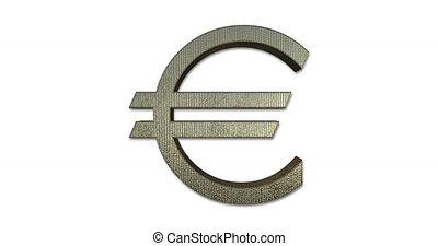 Euro Symbol Rotating