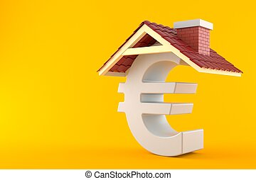 Euro symbol with roof