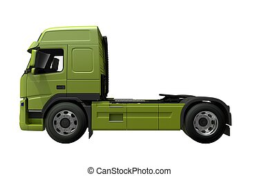 Euro Tractor Truck Side View