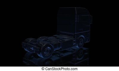 Euro Truck. Black shine of Model Big Truck 360 Degree...