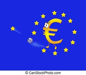 euro, und, greece.