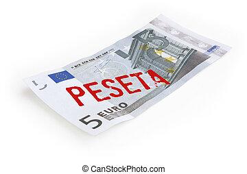 euro versus spaniard peseta, euro crisis