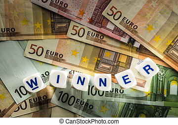 Euro with word winner