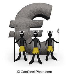 euro, -, zulu, denkmal