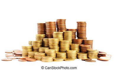 eurobiljet, cent, muntjes