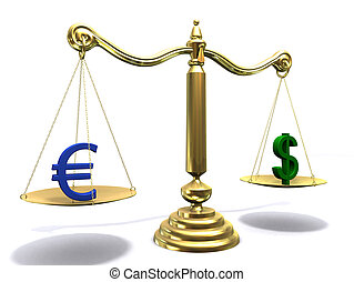 euro/dollar scale