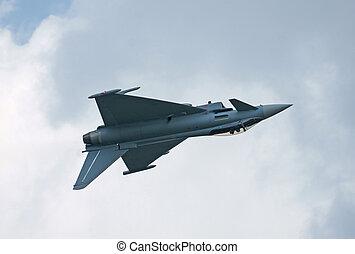 Eurofighter - The jetfighter Eurofighter Typhon in flight