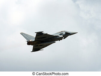 Eurofighter Typhon - The jetfighter Eurofighter Typhon in...
