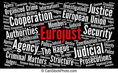 eurojust, 単語, 雲