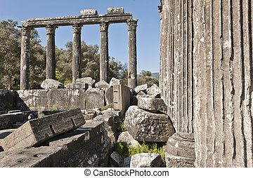 Euromos, Aegean Turkey - The Temple of Zeus at Euromos is to...