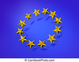 européen, étoiles, union.