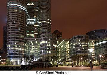 europa, 3:, edificios, rascacielos, coeur, parís, enero, 3,...