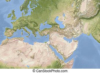 europa, africa nord, e, appresso, est