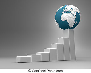 europa, -, afrikas, tabelle, erde